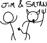 Jim_and_Satan_LOGO_by_Spritanium